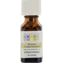 Aura Cacia Essential Oil, Cedarwood, 0.5 oz