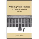 Writing with Sources : A Guide for Harvard Students, Harvey, 0872209431