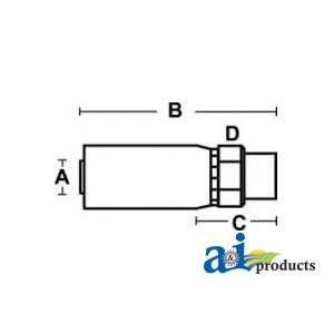 A&I - (HC-M-BSPP) Male BSP Parallel Pipe - Rigid - Straight  PART NO