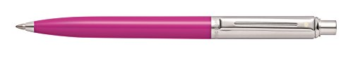 Sheaffer Sentinel Fuchsia Barrel and Brushed Chrome Cap Ballpoint Pen - Clamshell Packaging - E23218051CS