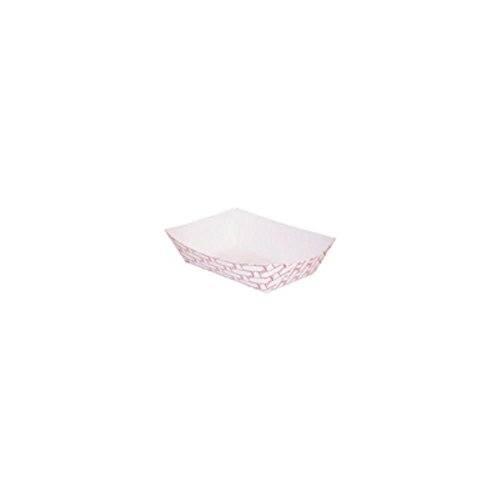 Huhtamaki 35122032 Red Weave 1/4 Lb Paperboard Food Tray - 1000/CS