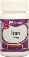 Vitacost Iron -- 18 mg - 100 Capsules by Vitacost Brand