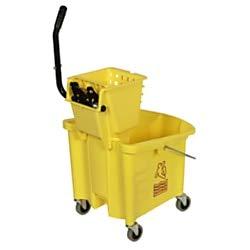 Continental 335-312YW Yellow 35 Quart Splash Guard Mop Bucke