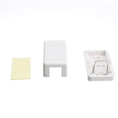 (GOWOS (10-Pack) Blank Surface Mount Box for Keystones, 1 Hole, White)