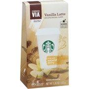Starbucks VIA Latte Vanilla Latte Specialty Coffee Beverage, 5 count, 5.36 oz(Pack of 2)