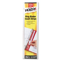 * HOLDit! Self-Adhesive Multi-Punched Binder Insert Strips, 25 Strips/Pa (Binder Insert Strips compare prices)
