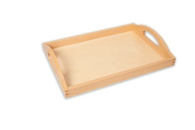 AMAZING CHILD Small Quality Beech Wooden Tray (Internal Dimensions of Base = 11 x 7 inches)