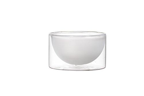 350ml Bowl (Vosi Double Wall Glass Bowl, Set of 2, 12 oz 350 ml)