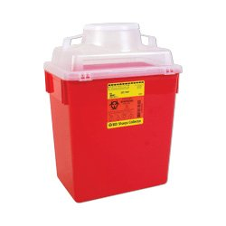 Becton Dickinson Guardian Sharps Container, 6 Gallons, Clear Top (58305457) Category: Sharps Containers