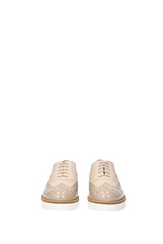 Piel de Beige Zapatos Hogan mujer de para cordones twaw8I