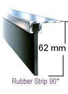 kopp 340511017 flush mounted fuse box metal door 1 row ip30 14ft x 62mm 90º draught excluder seal fits top or bottom of a garage door