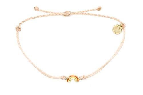 Pura Vida Gold Rainbow Cream Bracelet - Gold-Plated Charm, Adjustable Band - 100% Waterproof from Pura Vida