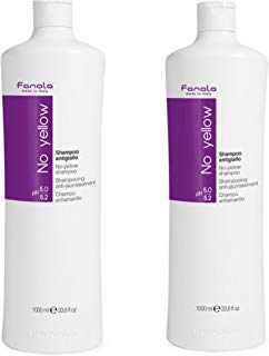 Fanola No Yellow Shampoo, 1000 ml (2 pack),33.8 Fl Oz,Pack of 2