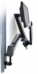 Ergotron 45-266-026 StyleView Sit-Stand Combo Arm - Mounting kit ( articulating arm, wall track mount ) for LCD display / keyboard / mouse / bar code scanner ( Lift and ()