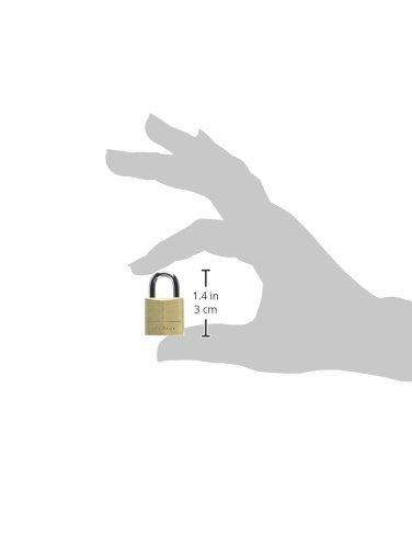 Master Lock Padlock, Solid Brass Lock, 3/4 in. Wide, 120Q (Pack of 4-Keyed Alike) by Master Lock (Image #5)