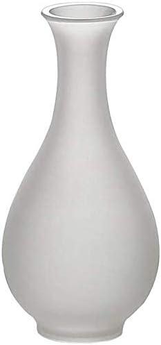 Leewadee Vase d/écoratif moderne en c/éramique Argent/é Hauteur 24,5 cm