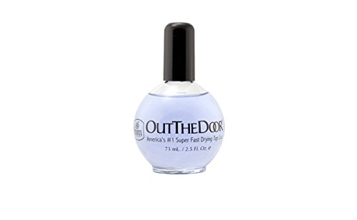 Fast Drying Top Coat - INM Out the Door Top Coat Nail Polish, 2.3 Ounce