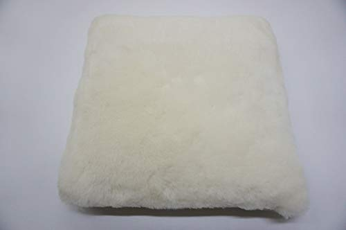 (Genuine Sheepskin Seat - Nursery - Wheelchair Mat - Pad - Cushion - Quilted Base - Soft Wool - White)