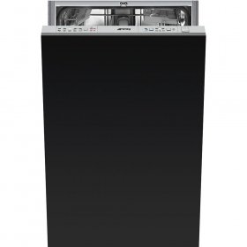 "Smeg 18"" Fully integrated Dishwasher With 10 Place Settings 5 Wash Cycles, STU1846"