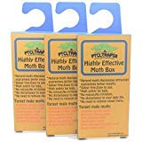 Clothes Moth Traps Box Natural Glue Sticky Trap Highly Effective Attractant Casemaking, Carpet, Webbing Moth, Pro Cloest Essentials Get Rid of Wool Moths with Natural Safe and Odor-Free Traps ()