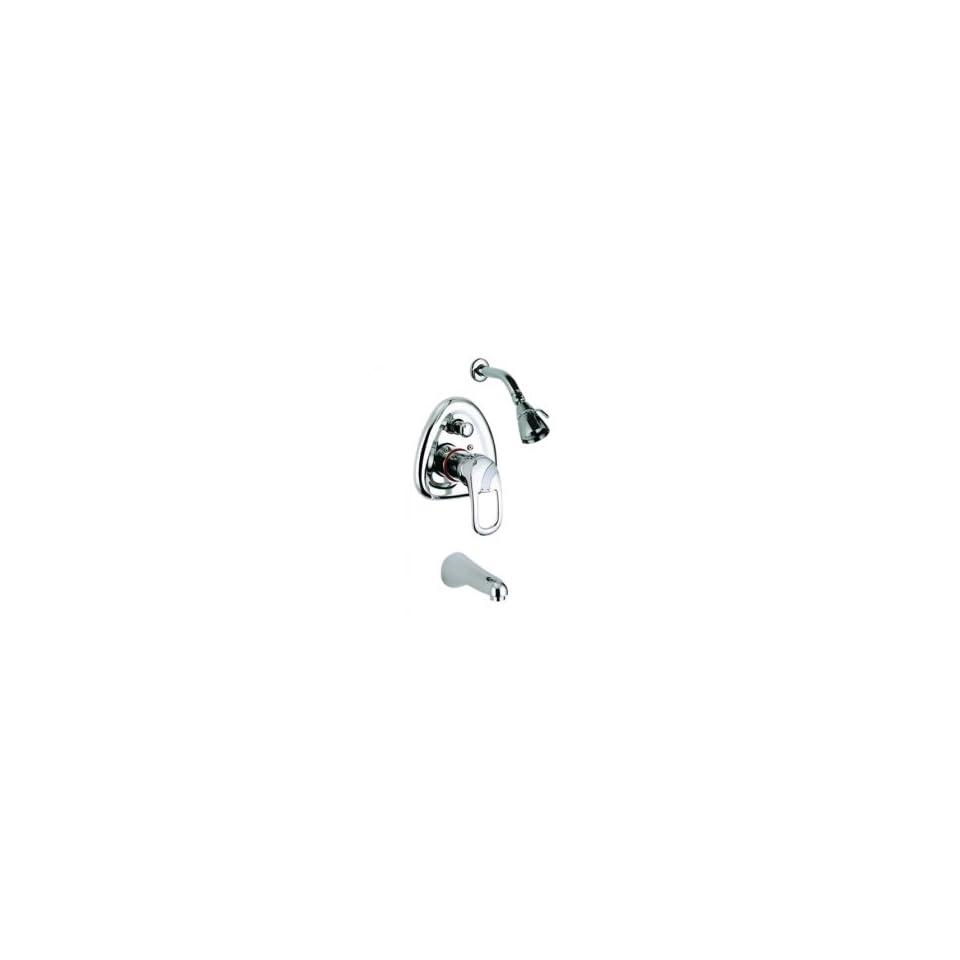 Single Handle Chrome Wall mount Tub / Shower Faucet