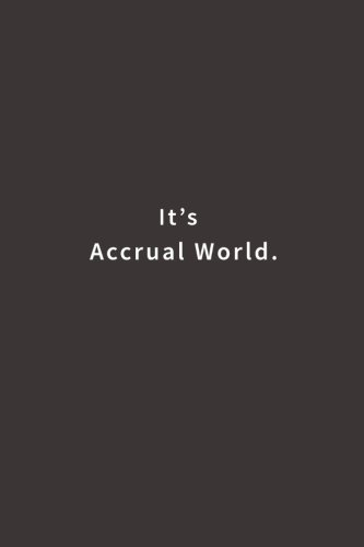 Download It's Accrual World.: Lined notebook ebook