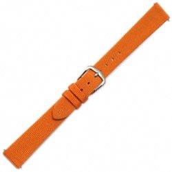 mm Orange Grosgrain Ribbon Speedstrap Watch Band (Grosgrain Ribbon Watch Band)