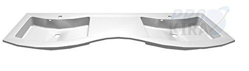 Pelipal Primadonna Glas-Doppelwaschtisch / PR-GDWTR 50-1752-owh / Klarglas / 176x12x50,4cm