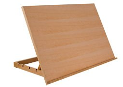 "SoHo Urban Artist Extra Large Adjustable Solid Wood Drawing Board for Painting & Sketching Artist Easel- Natural Finish 19.75"" x 30"""