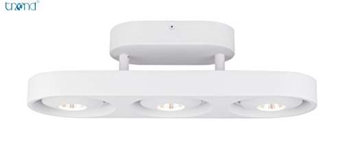 TREND Led Ceiling Light Semi Flush Mount, Dimmable Track Spot Lamp for Kitchen Living Room Hallway Office and Commercial