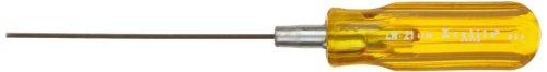 "Xcelite LN21 Recessed Allen Hex Socket Screwdriver, Amber Handle, 1/16"" Head, 4"" Blade Length, 6-5/8"" Overall Length"