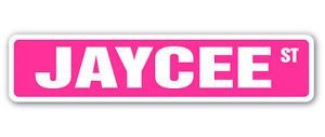 JAYCEE Street Sticker Sign name childrens room door gift kid child boy girl wall entry - Sticker Graphic Personalized Custom Sticker Graphic