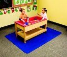 School Specialty 1396182 Protective Sand and Water Floor Mat, Polyester, 45'' x 58'' Size, Blue