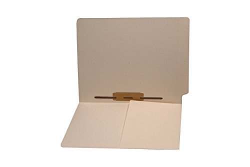 11 pt Manila Folders, Full Cut End Tab, Letter Size, 1/2 Pocket Inside Front, Fastener Pos #5 (Box of 50) by Ecom Folders