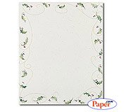 (Masterpiece Holly Bunch Letterhead - 8.5 x 11 - 25 Sheets)
