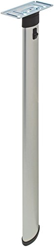 - Folding Table Leg, Elliptical by Hafele, aluminum, silver, 27 1/2