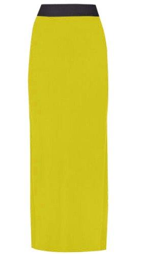 38 longues Chocolate Maxi Size Jersey Boho Femmes Plus 36 Jupes Pickle Yellow Nouveau wpxqHpXP