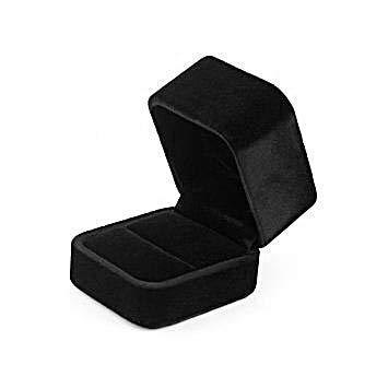 Niche-Finds Black Fancy Ring Box Jewelry Box - Velvet