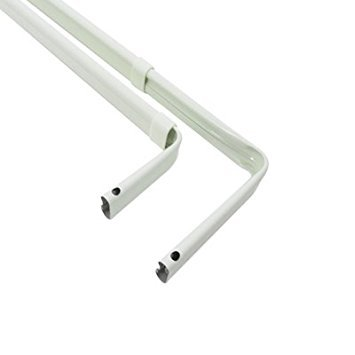 Graber Double Lock Seam Curtain Rod, 18 to 28-Inch Adjustable Width, White
