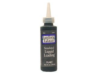 Plaid Enterprises PLA16076 4 Oz. Gallery Glass Liquid Leading - Black, Pack Of 3