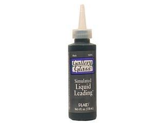 (Plaid Enterprises PLA16076 4 Oz. Gallery Glass Liquid Leading - Black, Pack Of 3)