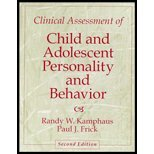 Clinical Assessment of Child and Adolescent Personality and Behavior, Kamphaus, Randy W. and Frick, Paul J., 0205334598