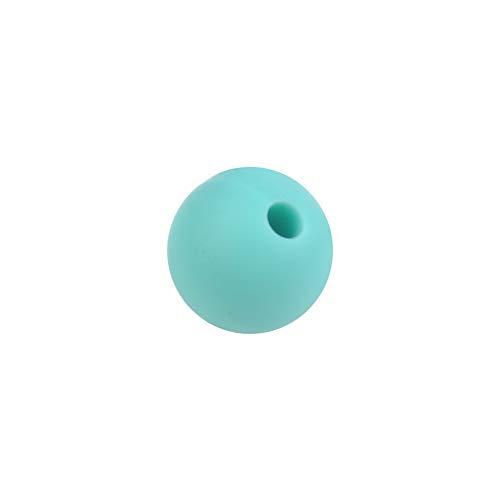 - Mikash 20pcs Mini Round BPA Free Silicone Teething Necklace Nursing Teether Beads | Model NCKLCS - 40506 | Lake Greenпј€9mmпј‰