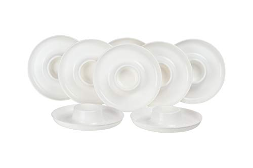 GreatPlate GP-WHT-8PK AZ White Plate 8-Pack, 8 White GreatPlates, Food Tray and Beverage Holder, Dishwasher Safe, Microwave Safe, Made in USA, Picnics, Parties, Tailgates, Appetizers, Great for Kids