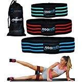 Bandas de resistencia de bota para entrenamiento de piernas y botones, juego de 3 bandas de tela antideslizantes para...