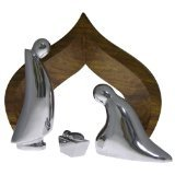 Nambè Holy Family 4-Piece Nativity with Wood Creche ()