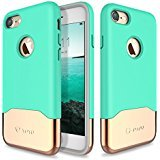 "Price comparison product image iPhone 7 Case,  WYgroup [Vibrance Series] Protective Slider Style Slim Cases Covers For Apple iPhone 7 4.7"" inch 2016 SOFT-Interior Scratch Protection Finish - Turquoise / Gold"
