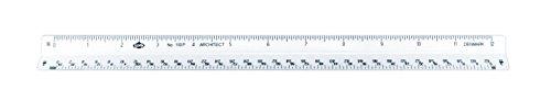 Alvin 110P 110 Series 12 inch High Impact Plastic Architect Triangular Scale