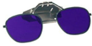 Cobalt Blue Glass Clip-On Flip-Up Spectacles - Full Lens - Shade #6 - To Fit On Hard ()