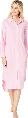- Lauren Ralph Lauren Women's Long Sleeve Rounded Collar Ballet Sleepshirt Pink Plaid Small
